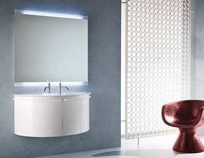 Mobili Da Bagno Bianco Lucido : Mm mobili da bagno mobile lavabo da appoggio e bacino bianco
