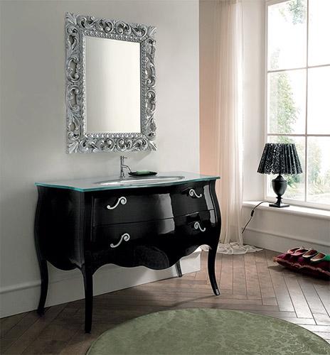 Mobile bagno laccato nero lucido by rab arredobagno - Rab arredo bagno ...