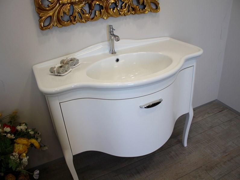 Mobile bagno Lavanderia Bombato ianco Euro bagno con forte sconto