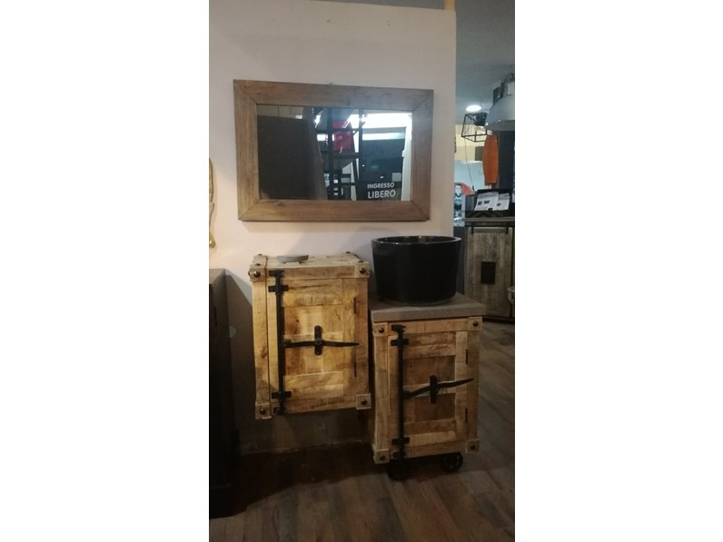 Mobile bagno mobile bagno industrial container legno outlet etnico scontato 58 - Mobile bagno etnico ...