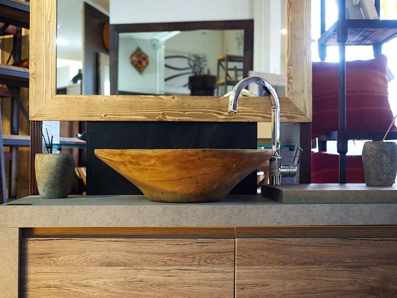 Mobile bagno moderno colore essential rovere in offerta for Mobile bagno minimal