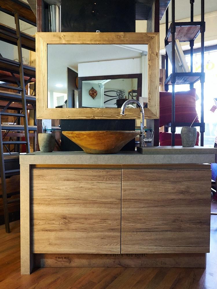 Mobile bagno moderno colore essential rovere in offerta - Mobile bagno rovere sbiancato ...