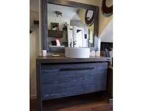 mobile bagno  moderno noce con maniglione design bambu