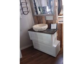 Mobile bagno Nuovi mondi cucine Mobile bagno shabby duo con lavabo crema in offerta  con uno sconto imperdibile