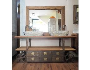 Mobile bagno Outlet etnico Mobile bagno industrial con ruote in offerta  con un ribasso imperdibile