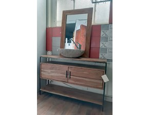 Mobile bagno Outlet etnico Mobile bagno radice teak minimale industriale in offerta  IN OFFERTA OUTLET