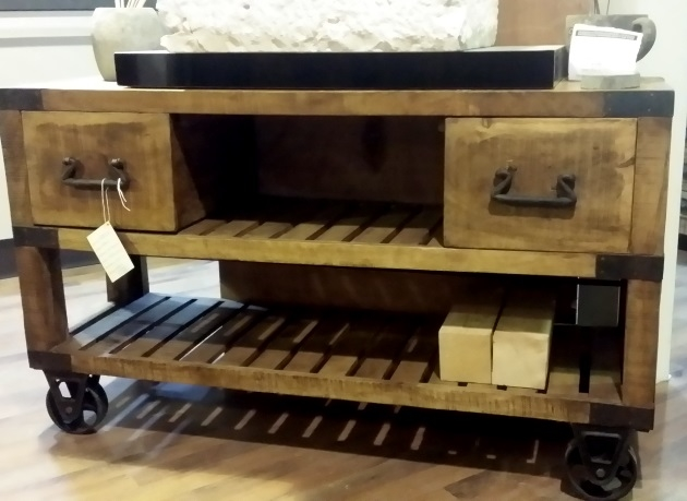 Mobile bagno recicle industrial con ruote iron india - Bagno industrial ...