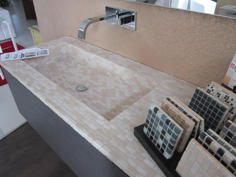 Mobile bagno con top in mosaico arredo bagno a prezzi for Top arredo