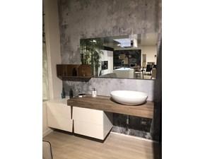 Mobile bagno Sospeso Bagno ardeco bianco opaco + effetto legno Cucine noventa in offerta