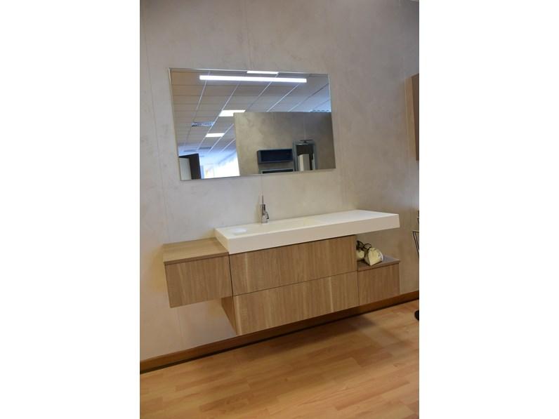 Mobile bagno sospeso compab con lavandino in mineralmarmo a prezzi