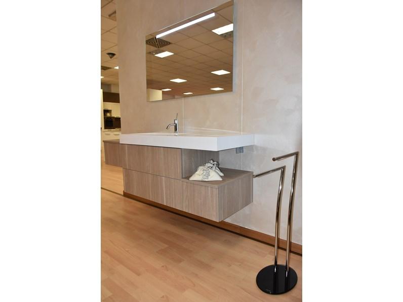 Mobile bagno sospeso compab con lavandino in mineralmarmo - Lavandino con mobile bagno ...
