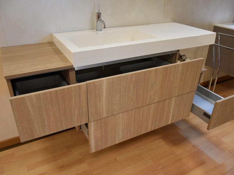 Mobile bagno sospeso compab con lavandino in mineralmarmo - Prezzi lavandino bagno ...