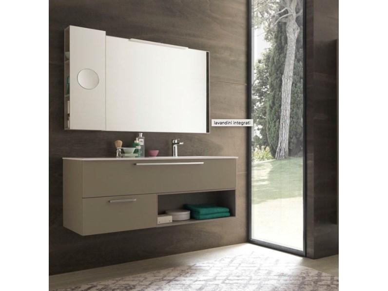 Mobile bagno sospeso composizione archeda in offerta for Offerta mobili bagno