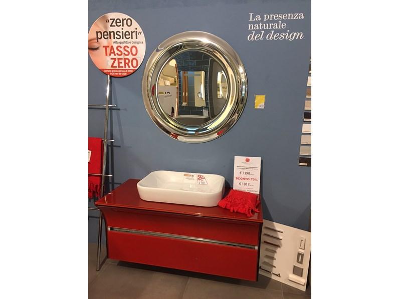 Mobile bagno sospeso cristalquattro in acciaio inox e cristallo colorato - Mobilbagno ozzano ...
