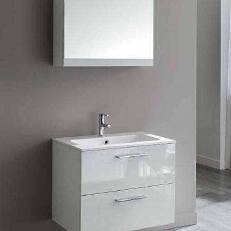 Mobile bagno sospeso laccato lucido cm 70 promozione for Bricoman arredo bagno