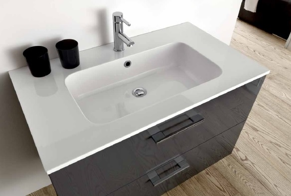 Mobile bagno bianco laccato lucido - Self arredo bagno ...