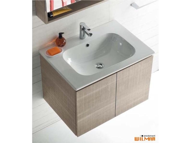 Mobile Con Lavello Bagno.Mobile Bagno Sospeso Portalavabo Con Lavello Ceramic Compab Con Forte Sconto