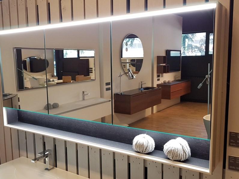 Mobile Bagno Specchio Contenitore.Mobile Bagno Sospeso Specchio Contenitore Falper Con Forte Sconto