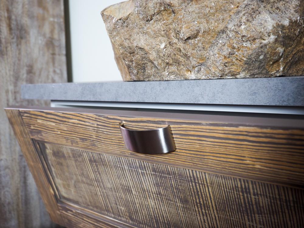 mobile bagno stile industrial anta legno class vintage ...