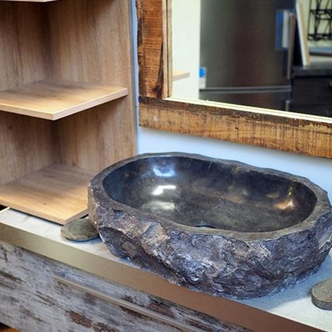 Mobile bagno vintage decape 39 iroko zen in offerta for Mobile bagno minimal
