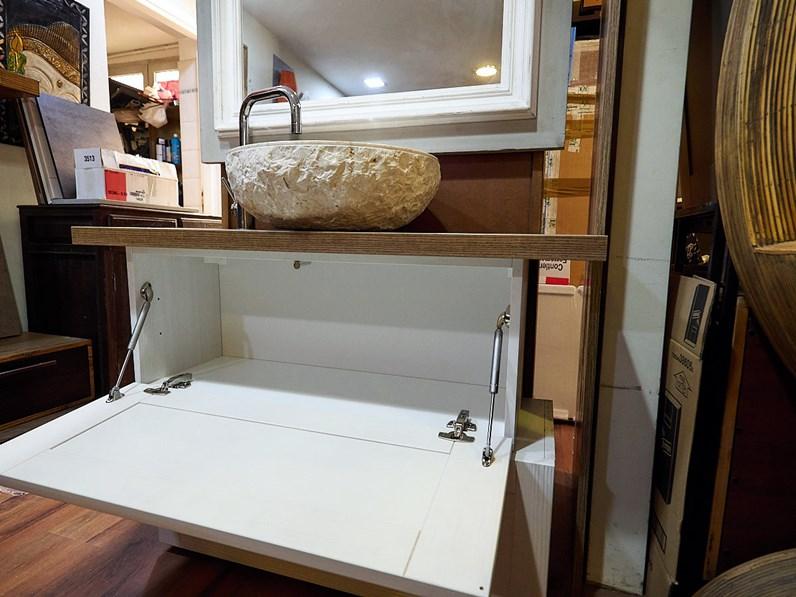 mobile bagno vintage shabby chic doppio modulo white in offerta ...