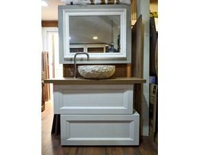 mobile bagno vintage chic doppio modulo white e piano rovere corda in offerta outlet