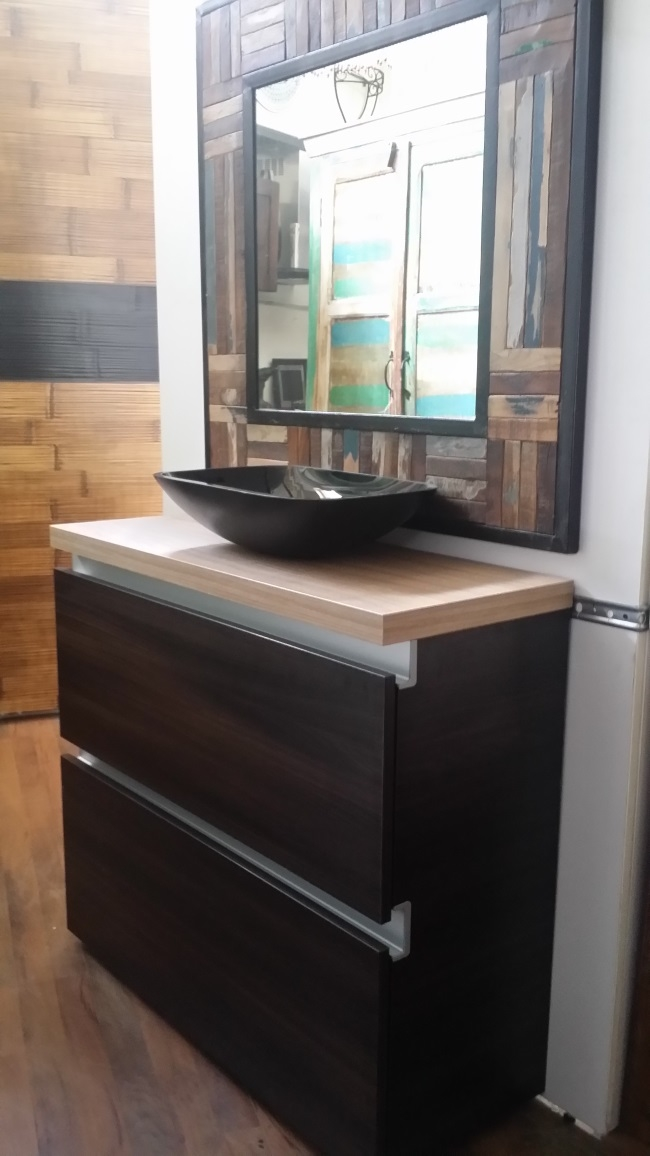 Mobile bagno zen brown con 2 cassettoni da 90 arredo bagno a prezzi scontati - Arredo bagno zen ...