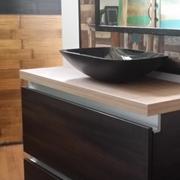mobile bagno zen brown con 2 cassettoni da 90