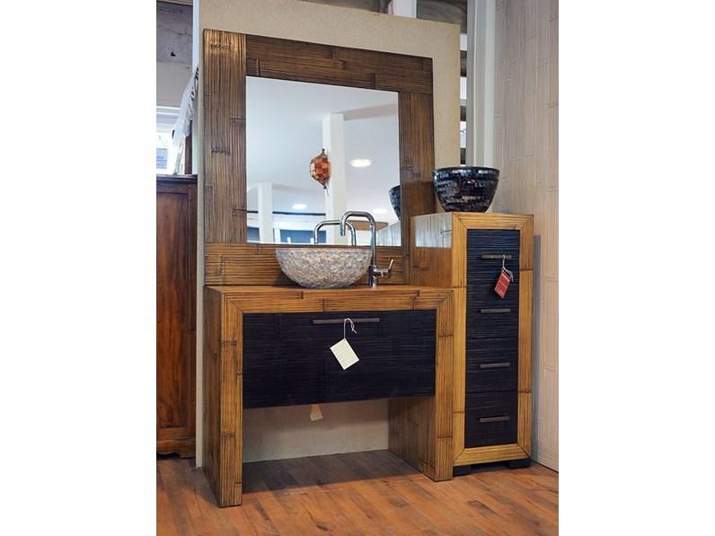 Mobile bagno zen legno crash bambu in offerta outlet - Arredo bagno zen ...