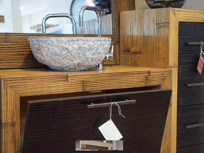 Mobile convenienza bagno in crash bambu 39 for Arredo bagno stile antico