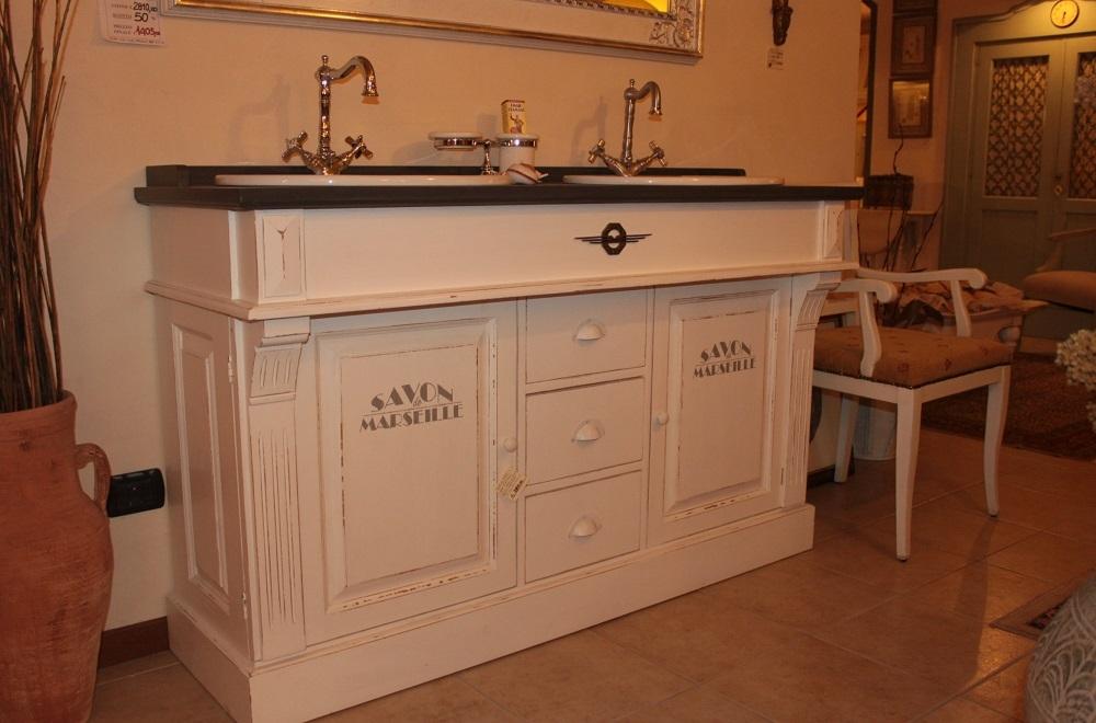 Mobile da bagno con doppio lavabo dialma brown in offerta - Lavandini per bagno con mobile ...