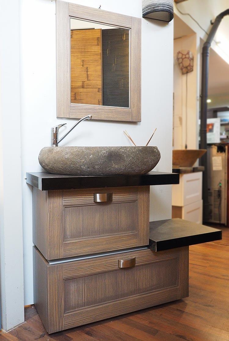 Mobile da bagno doppia modulo in offerta in legno india - Offerta mobile bagno ...