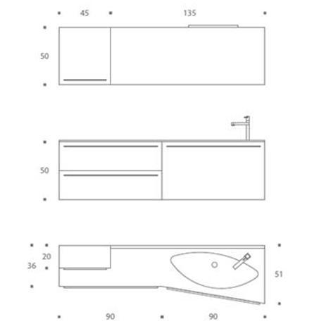 Mobile Bagno Misure ~ Migliore Ispirazione Per La Casa e l\'interior ...