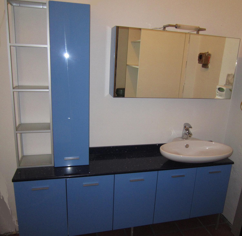 Mobile da bagno laccato lucido arredo bagno a prezzi - Mobile bagno blu ...