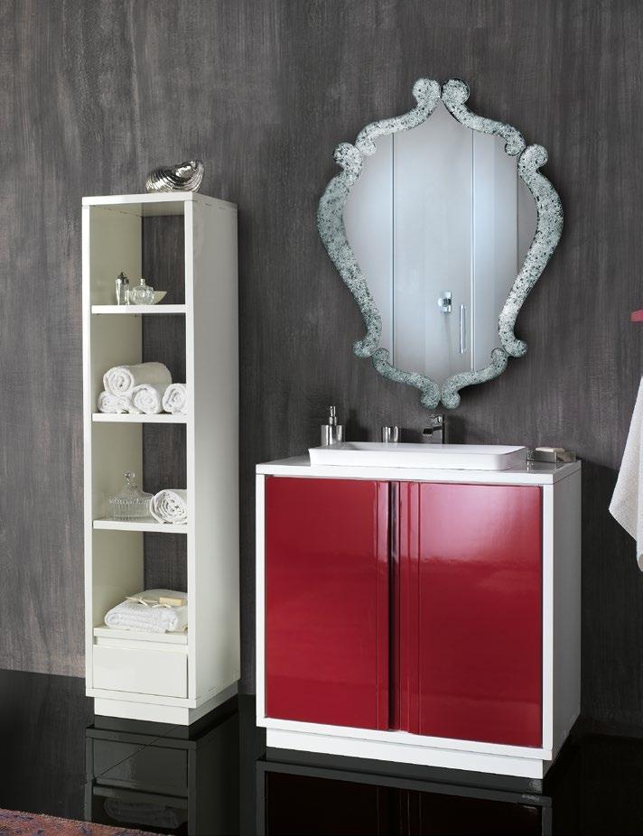 Mobile da bagno lavandino incasso con specchiera e colonna - Mobile bagno con lavandino ...