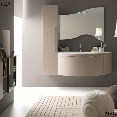 Mobile da bagno moderno sospeso con lavabo ad incasso in mineralmarmo - Arredo bagno a prezzi ...