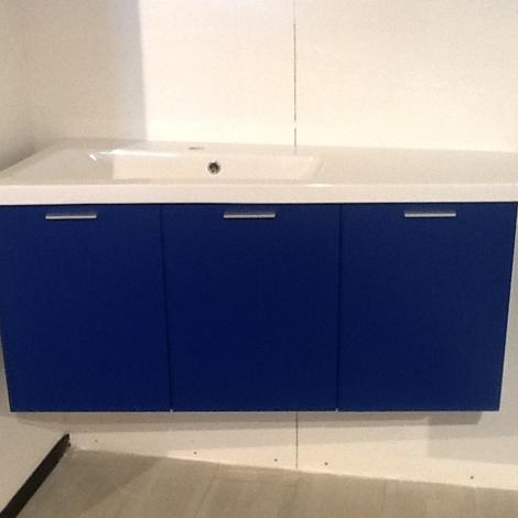 Ideal bagni bagno laccato blu moderna arredo bagno a for Mobile bagno blu