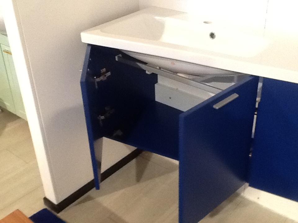 mobile da bagno laccato blu opaco mobile da bagno lavabo in tecnoril