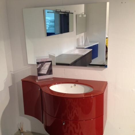 Mobile da bagno sospeso laccato rosso bordo 39 lucido arredo bagno a prezzi scontati - Mobile bagno sospeso prezzi ...