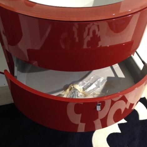 mobile da bagno piano cristallo apertura cassettone sotto lavabo