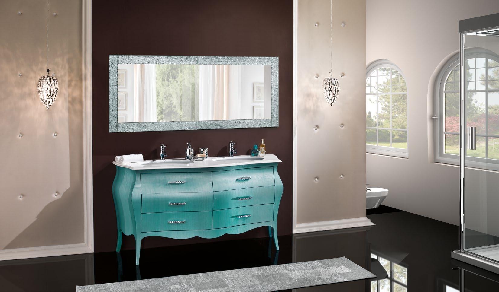 ... in legno bombato per bagno due lavabi - Arredo bagno a prezzi scontati
