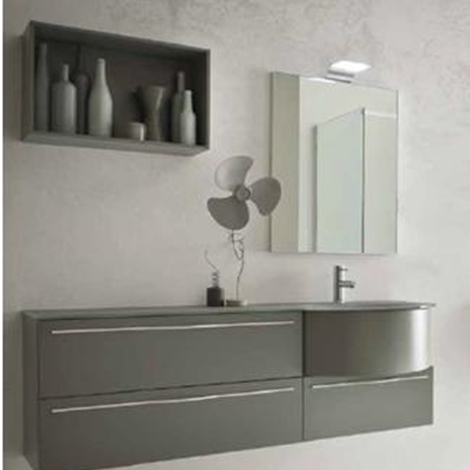 Mobile laccato grigio pietra opaco arredo bagno a prezzi scontati - Mobile bagno grigio ...
