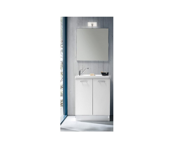 Mobile lavanderia con lavabo specchiera faretto sconto 35 arredo bagno a prezzi scontati - Lavabo con mobile e prezzi ...