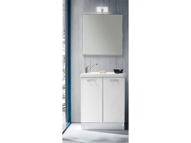 Mobile lavanderia con lavabo specchiera faretto sconto 35 - Mobile bagno profondita 35 ...