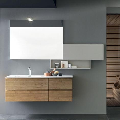 Mobile per arredo bagno con specchiera nuovo a prezzo - Specchiera bagno prezzi ...