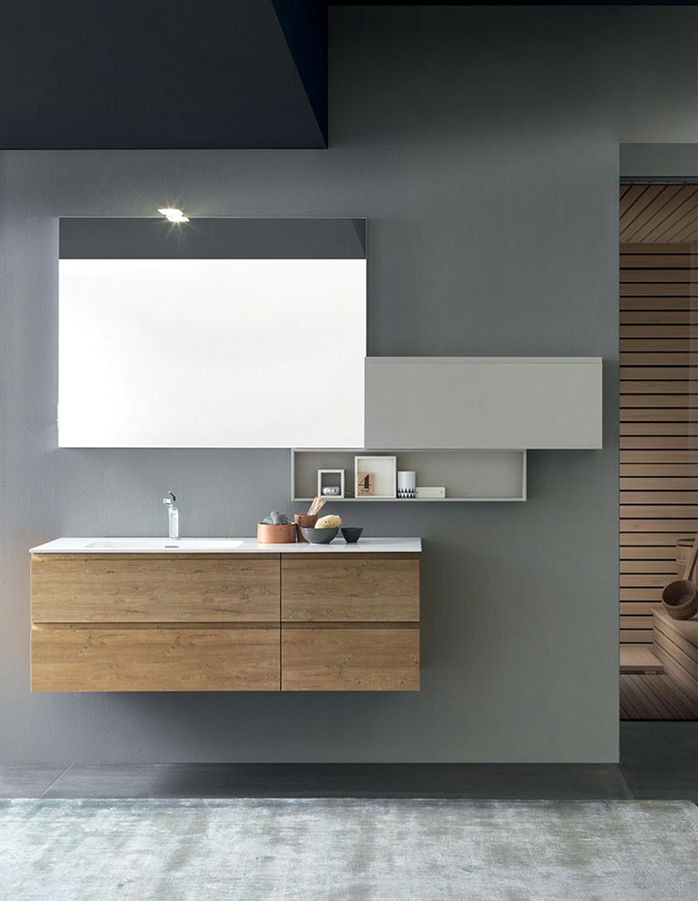 Mobile per arredo bagno con specchiera nuovo a prezzo - Bagno nuovo prezzi ...