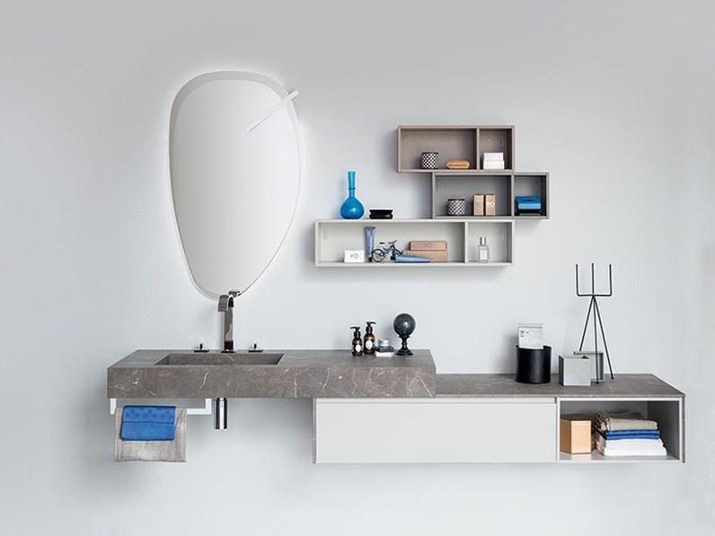 Mobile per bagno con composizione di vani a giorno, by RAB ...