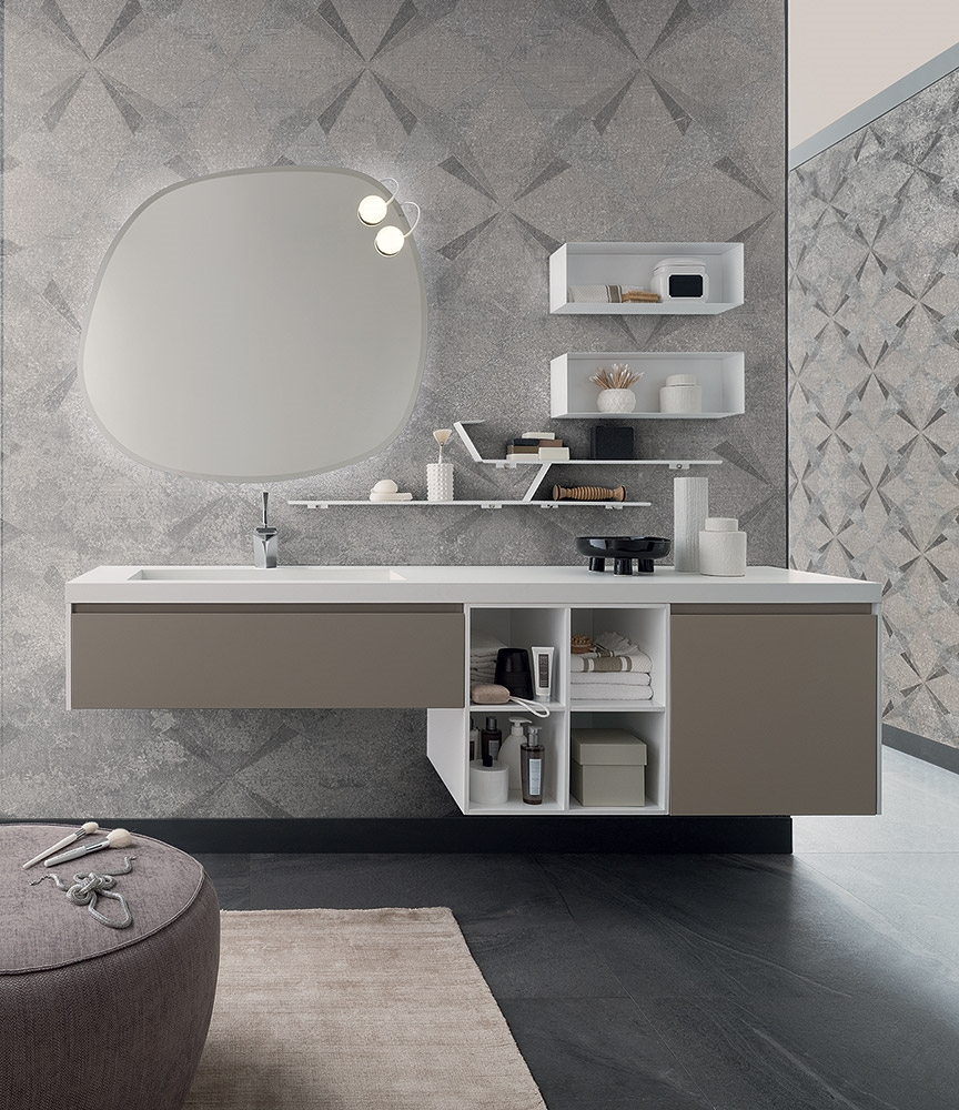 Mobile per bagno con lavabo integrato by rab arredobagno - Bagno nuovo prezzi ...