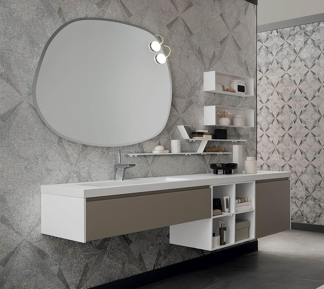 Mobile per bagno con lavabo integrato by rab arredobagno nuovo scontato arredo bagno a - Prezzi lavabo bagno con mobile ...