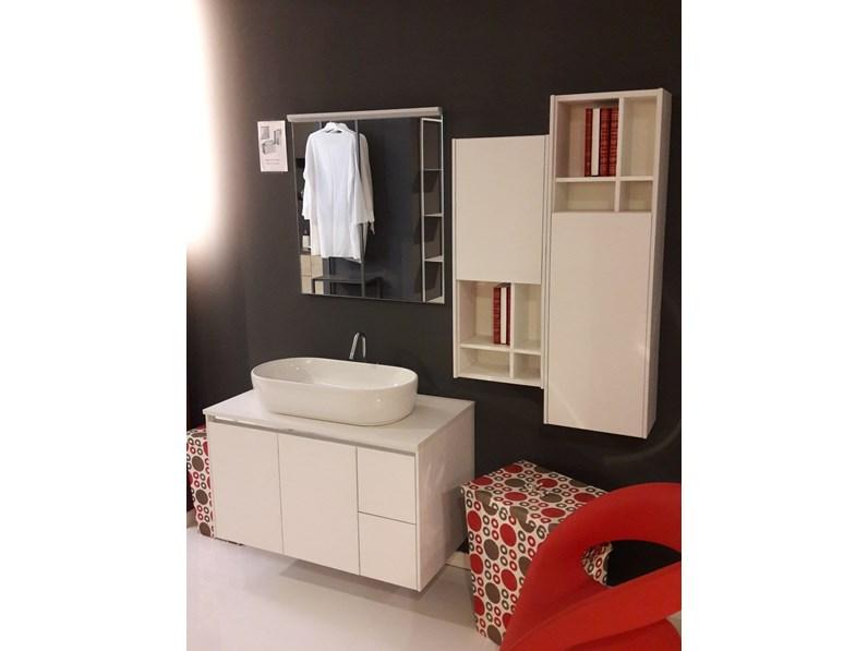 Mobile per il bagno arcom ego step nodo bianco a prezzi outlet for Visma arredo prezzi